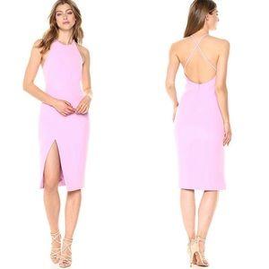 Bardot Cara pink asymmetrical sheath dress
